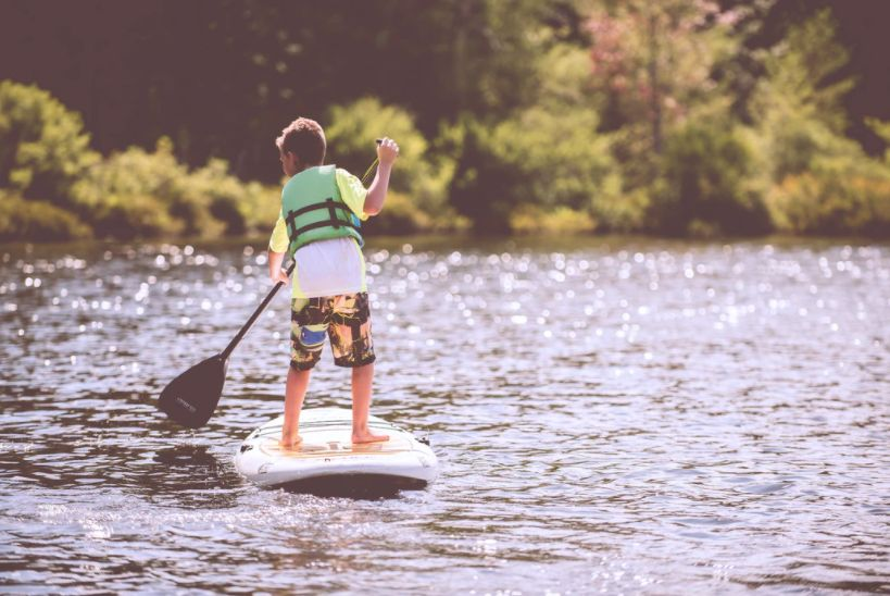 lac camping enfant